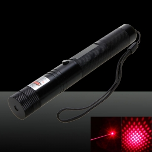 Laser 303 200mW Professional Red Laser Pointer Suit with 18650 Battery & Charger Black