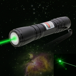 300mW Professional Green Laser Pointer Suit with 16340 Battery & Charger Black (619)