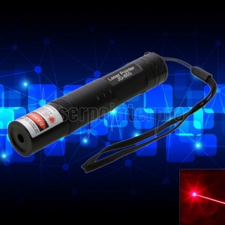 200mW Professional Red Laser Pointer Suit with 16340 Battery & Charger Black