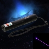 200mW Professional Blue Laser Pointer Suit with 16340 Battery & Charger Black (850)