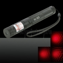 300MW Professional Red Light Laser Pointer with Box (18650 / 16340 Lithium Battery) Black