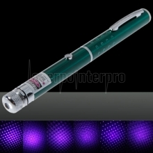 50mW Middle Open Starry Pattern Purple Light Naked Laser Pointer Pen Green