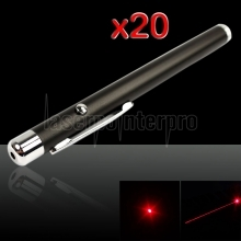20Pcs 5mW 650nm rouge stylo pointeur laser