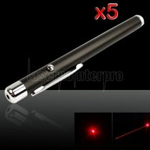 5Pcs 5mW 650nm rouge stylo pointeur laser