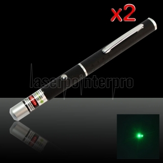 2pcs 200mW 532nm Mittler-öffnen Green Laser Pointer Pen