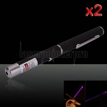 2Pcs 20mW 405nm Power Mid-open Blue-violet Laser Pointer
