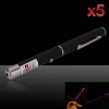 5Pcs 20mW 405nm Power Mid-open Blue-violet Laser Pointer