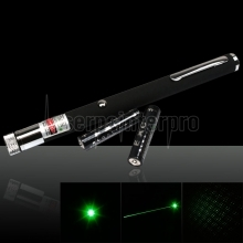 10mW 532nm Open-back Kaleidoscopic Caneta Laser Pointer Verde