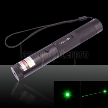 200mW 532nm Flashlight Style Green Laser Pointer Black