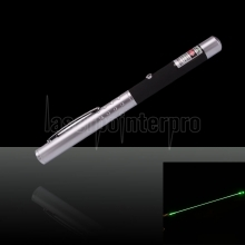 10mW 532nm metade do aço verde Laser Pointer Pen com 2AAA Bateria