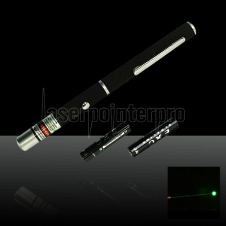 30mW 532nm Mid-open Green Laser Pointer Pen with 2AAA Battery
