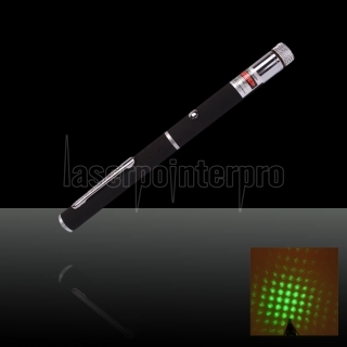 20mW 532nm Mid-aberto Kaleidoscopic Green Laser Pointer Pen com 2AAA Bateria