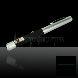 200mW 532nm Half-steel Green Laser Pointer Pen with 2AAA Battery