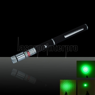 150mW 532nm Pen Style Green Laser Pointer Pen  (included two LR03 AAA 1.5V batteries)
