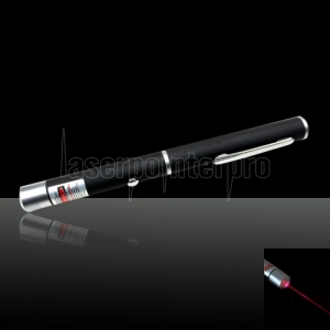 100mW 650nm Mid-open Flashlight Style Red Laser Pointer Pen with 2AAA Battery