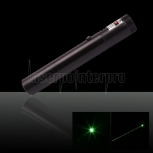 30mW 532nm Flashlight Style Adjust Focus Green Laser Pointer Pen with 18650 Battery
