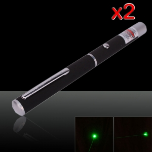 2Pcs 1mW 532nm High Power Green Laser Pointer Pen