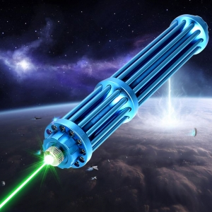 50000 mw Gatling Burning Green Power Kit puntatore laser verde blu