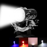 300LM Outdoor Tactical LED Flashlight Kit White & Red & Blue Light