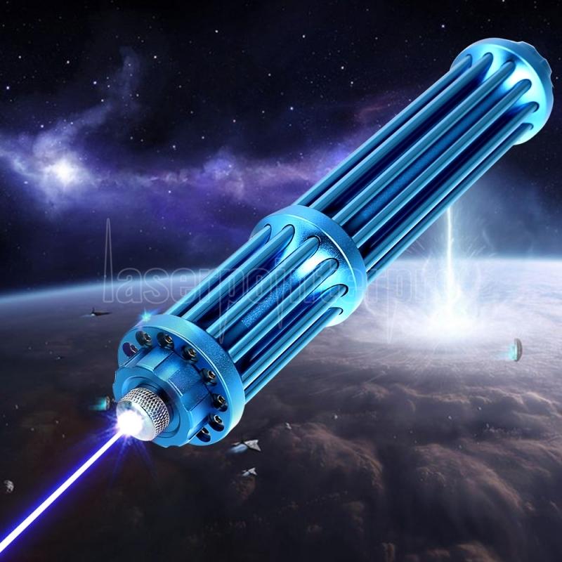 10000mw 450nm Gatling Burning High Power Blue Laser Pointer Kits