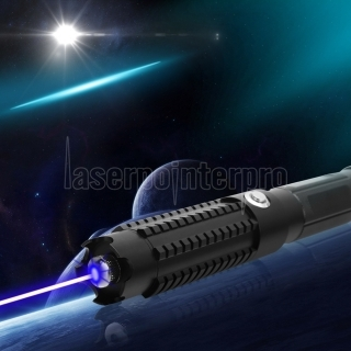 50000mW 450nm 5 in 1 brennende High Power Blue Laser Pointer Kits Schwarz