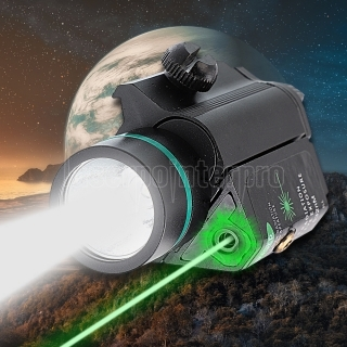 High Precision LED Flashlight 50mW Beam Light Green Laser Sight