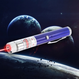 200mW 650nm Red Beam Light Starry Rechargeable Laser Pointer Pen Blue
