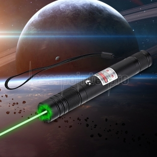 200mW 532nm Rechargeable Green Laser Pointer Beam Light Single-point Black