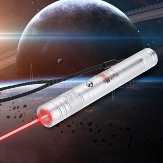 200mW 650nm Rechargeable Red Laser Pointer Beam Light Single-point Silver