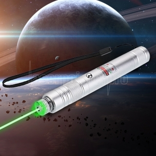 200mW 532nm Rechargeable Green Laser Pointer Beam Light Starry Silver