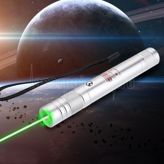 200mW 532nm Rechargeable Green Laser Pointer Beam Light Single-point Silver