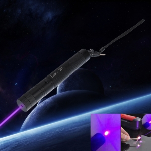 10000mW 405nm Burning High Power Blue-violet Laser Pointer with Bracket & Case Black