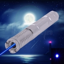 500mw 450nm Burning Blue Laser pointer kits Silver 012