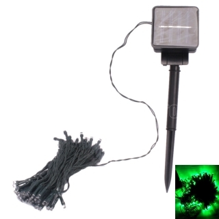 11M 60 LED Green Light Solar String Lamp Festival Decoration