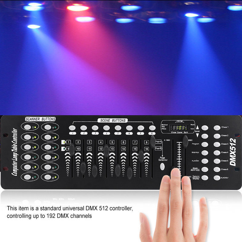 192CH DMX512 Stage Light Laser DJ Light LED Controller (AC 100-240V)