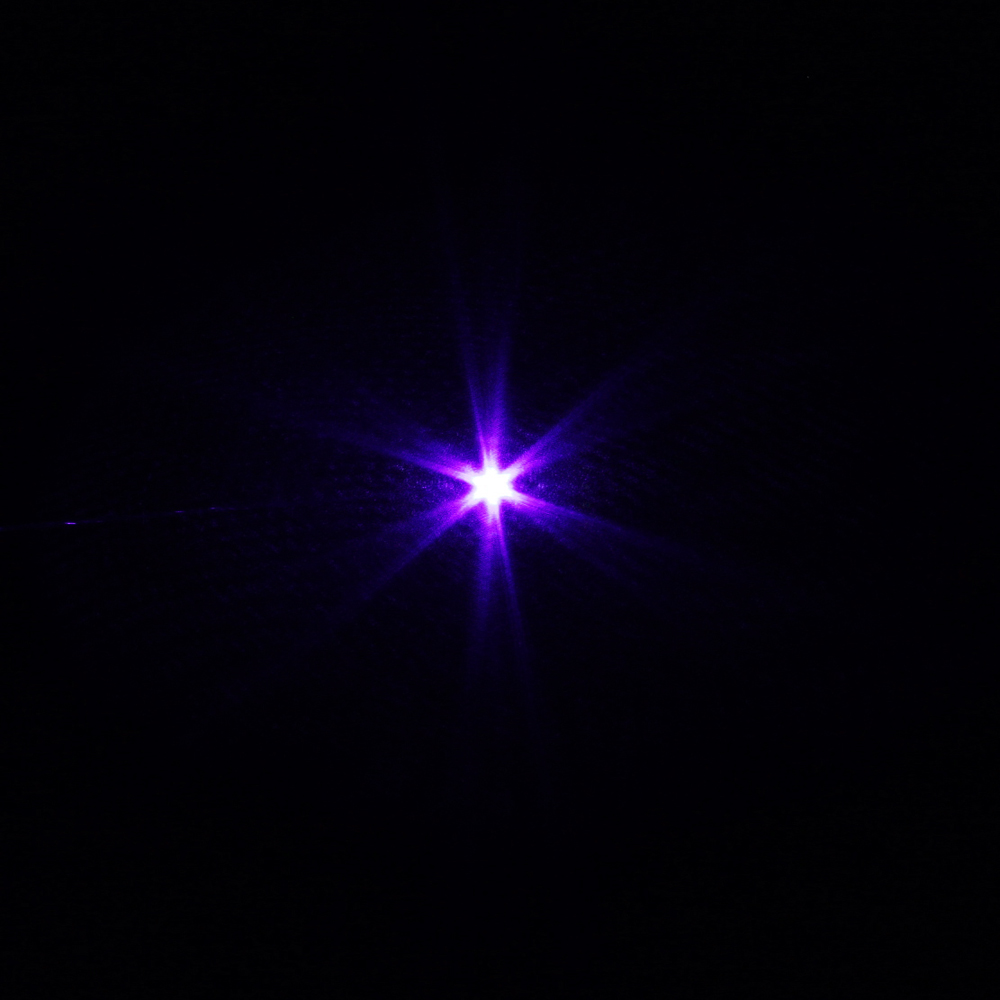 Laser618 500mw 405nm en alliage d'aluminium violet noir pointeur laser