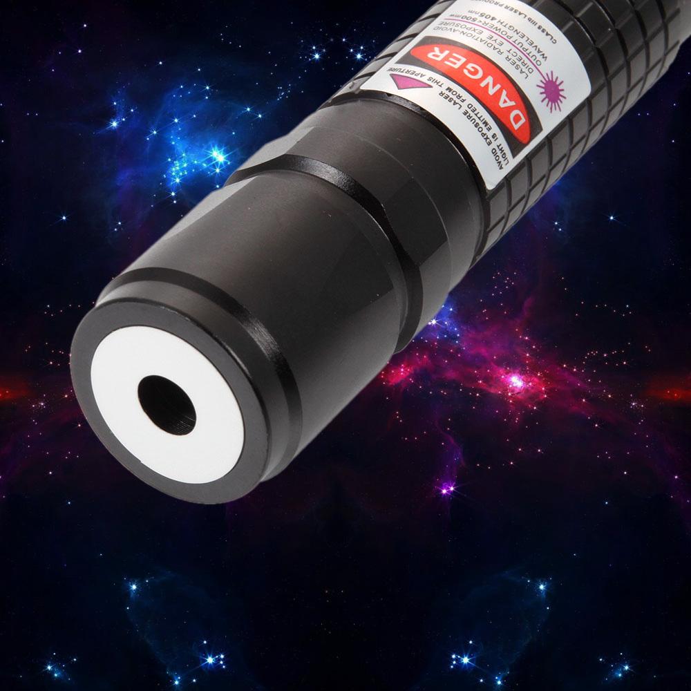 laser618 500mw 405nm liga de alumínio roxo ponteiro laser preto