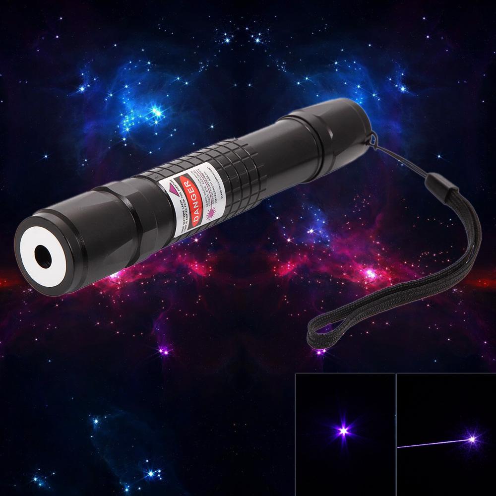 Laser618 500mW 405nm Aluminiumlegierung Lila Laserpointer Schwarz