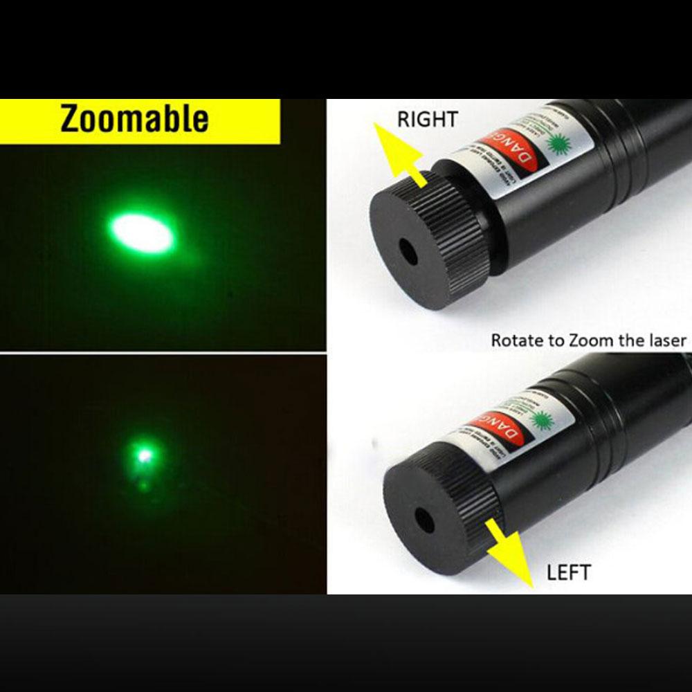 Laser 301 500mW 532nm grüner Lichtstrahl Einzelpunkt-Laserpointer schwarz