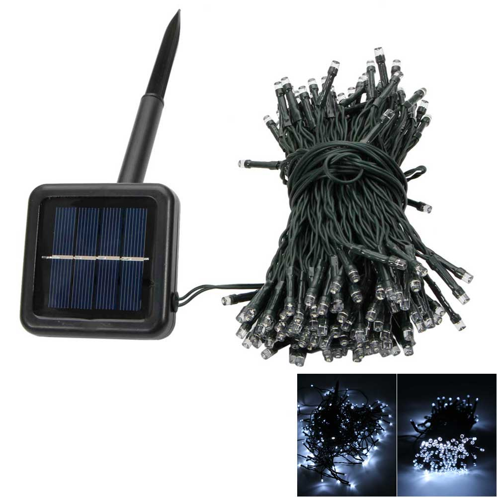 200-LED White Light Outdoor Waterproof Décoration d'énergie solaire