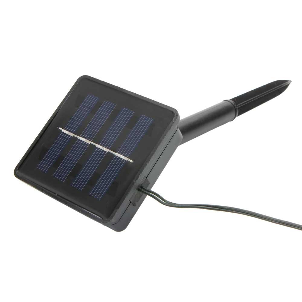 200 LEDs lumière blanche chaude lumière de corde solaire