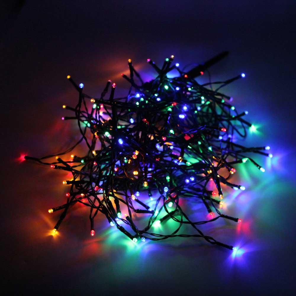200-LED buntes Licht im Freien wasserdichte Weihnachtsdekoration Solar Power String Licht