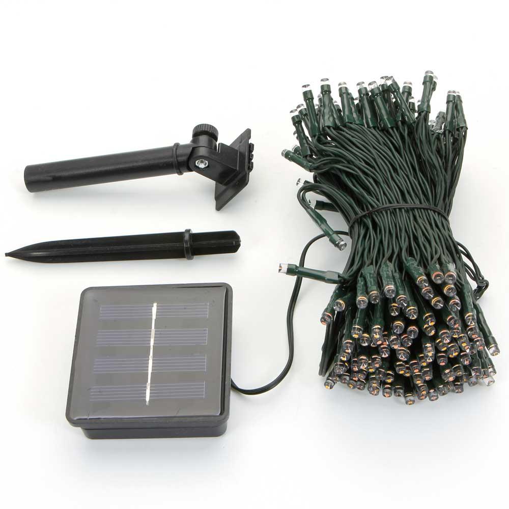 Guirlande lumineuse solaire de décoration de Noël imperméable extérieure de 200-LED de lumière LED