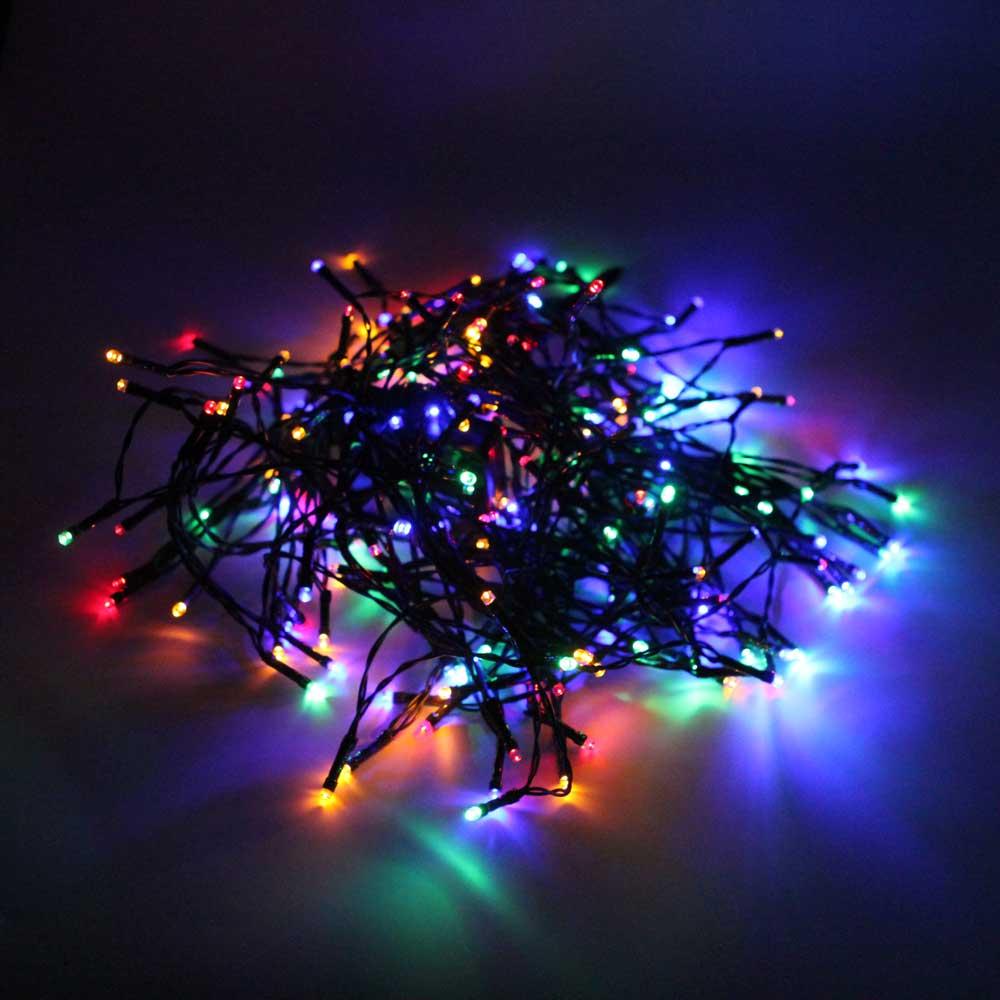 200-LED luce variopinta esterna impermeabile stringa di luce solare di Natale decorazione