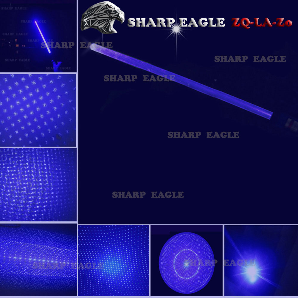 EAGLE ZQ-LA-1a 5000mW 450nm Pure Blue Beam 5-in-1 Spada laser kit nero
