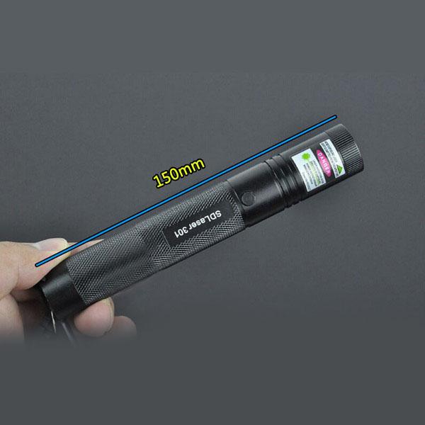 Puntatore laser in alluminio impermeabile verde chiaro a luce verde da 500 mW 532 nm