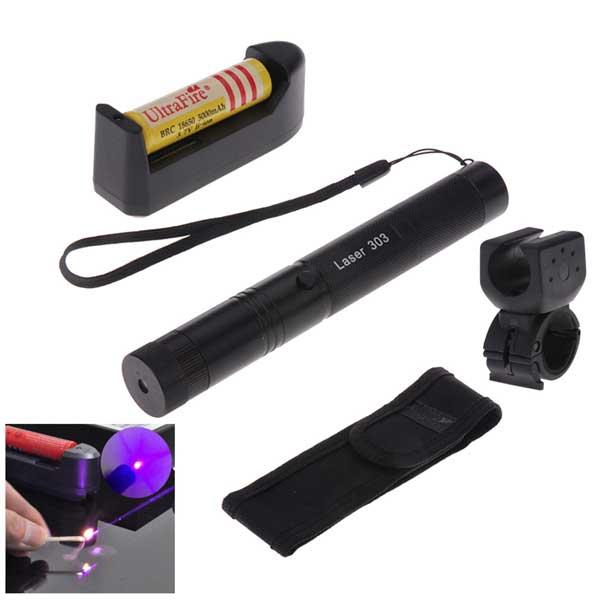 SHARP EAGLE 200mW 405nm Lila Licht Starry Sky Style Laserpointer mit Halterung & Gehäuse Schwarz