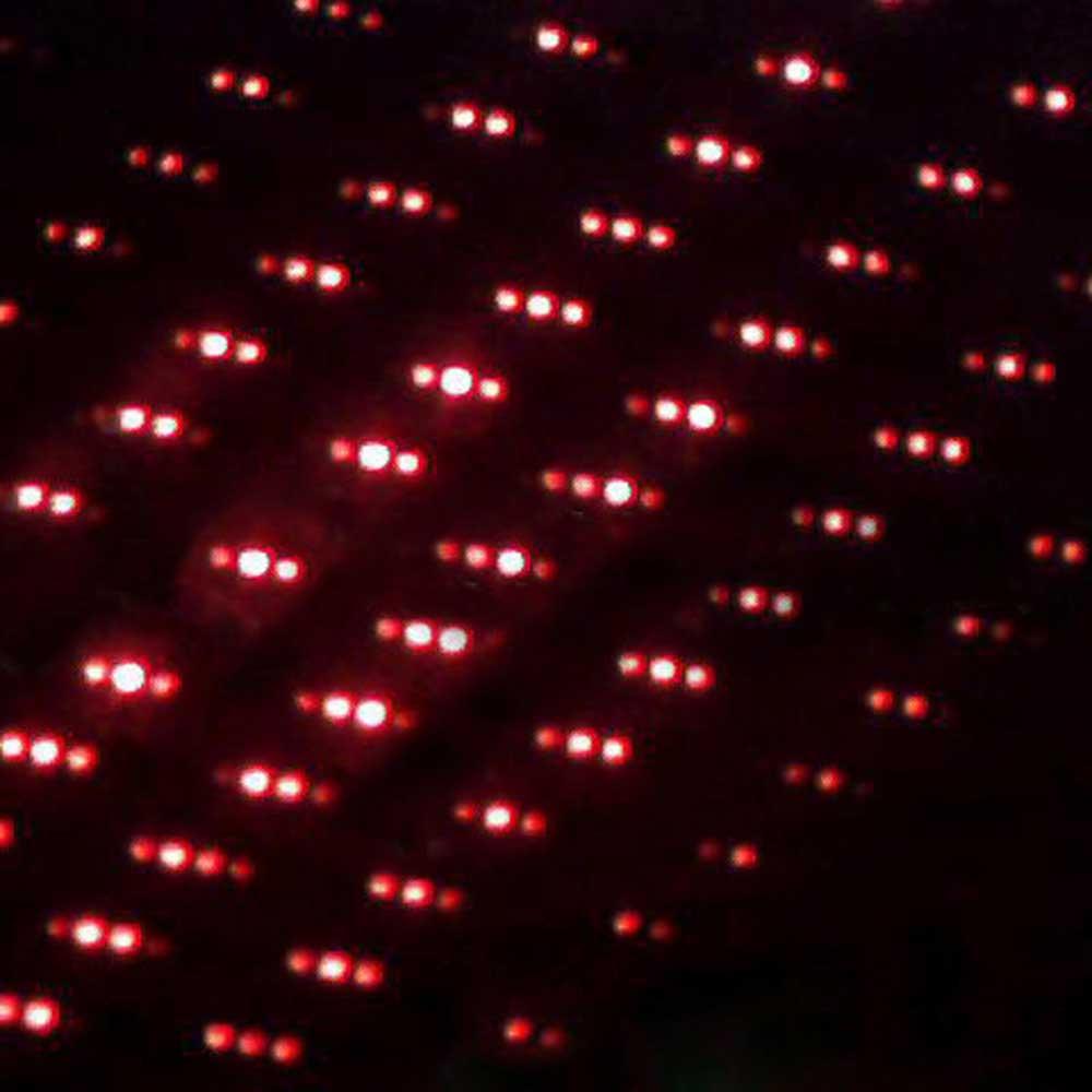 500mW 650nm aço invólucro caleidoscópio estilo céu estrelado vermelho ponteiro laser prata