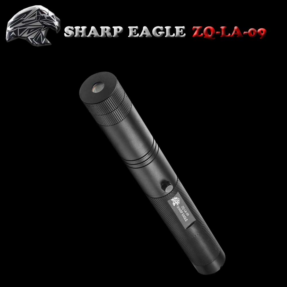 SHARP EAGLE ZQ-LA-09 3-in-1 1000mW 532nm/650nm Green & Red Light Starry Sky Style Aluminum Laser Pointer Black