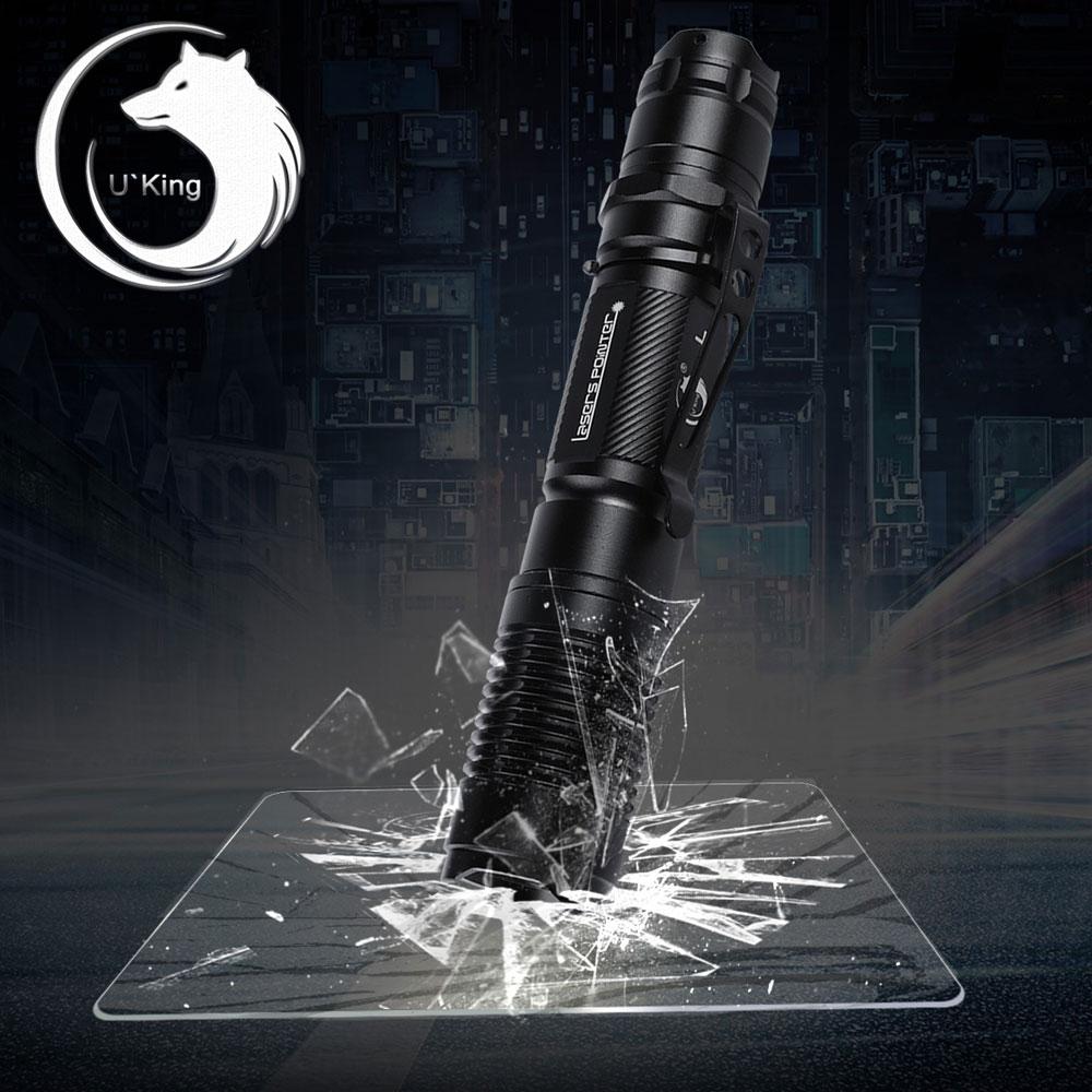 UKing ZQ-A13 50mW 532nm feixe verde ponto único Zoomable ponteiro laser caneta preto